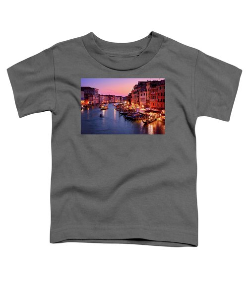 The Blue Hour From The Rialto Bridge In Venice, Italy Toddler T-Shirt