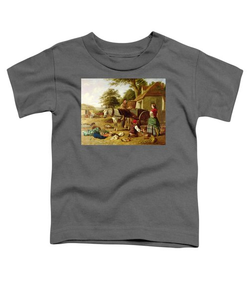 The Market Cart Toddler T-Shirt by Henry Charles Bryant