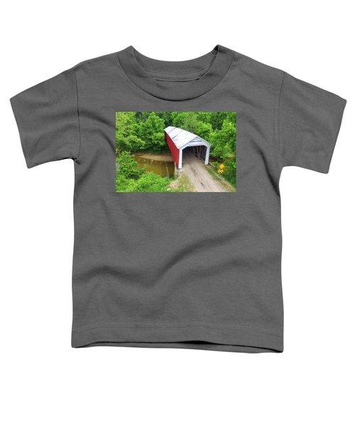 The Mcallister Covered Bridge - Ariel View Toddler T-Shirt