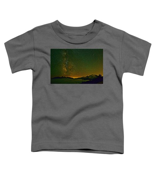 The Milky Way And Mt. Rainier Toddler T-Shirt