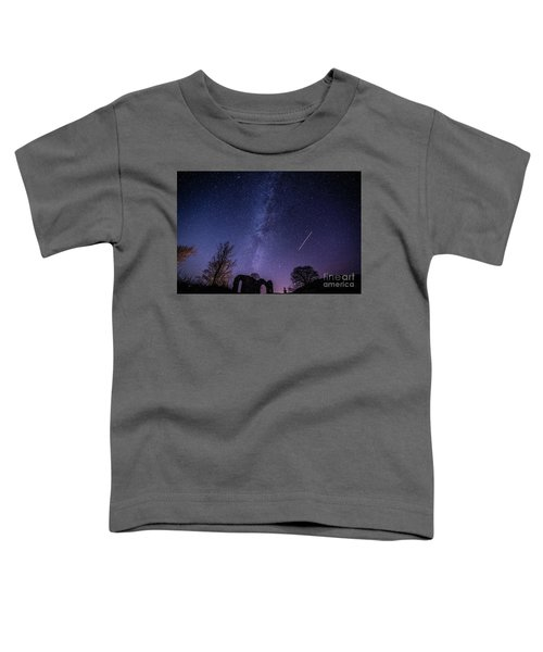 The Milky Way Over Strata Florida Abbey, Ceredigion Wales Uk Toddler T-Shirt