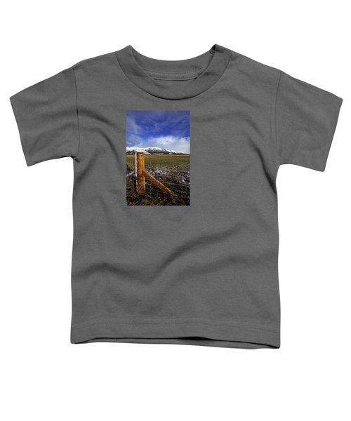Toddler T-Shirt featuring the photograph The Ochils In Winter by Jeremy Lavender Photography