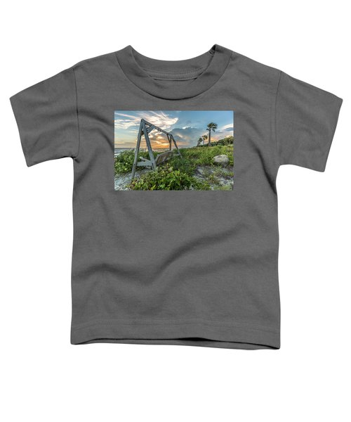 The Old Beach Swing -  Sullivan's Island, Sc Toddler T-Shirt