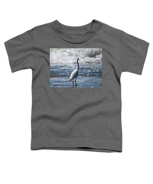 Egret And The Waves Toddler T-Shirt