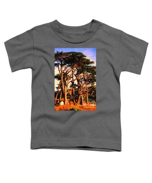 The Old Grove At The Ranch At Sunset . 40d4531 . Painterly Toddler T-Shirt