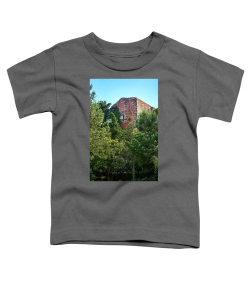 The Old Monastery Of Escornalbou Surrounded By Trees In Spain Toddler T-Shirt