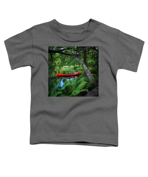 The Red Canoe On The Lake Toddler T-Shirt