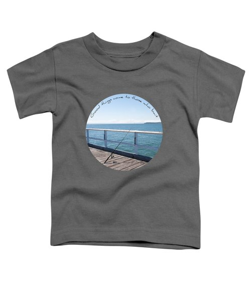 Toddler T-Shirt featuring the photograph The Rod by Linda Lees