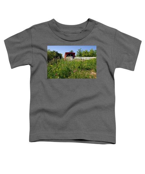 The Roseman Bridge In Madison County Iowa Toddler T-Shirt