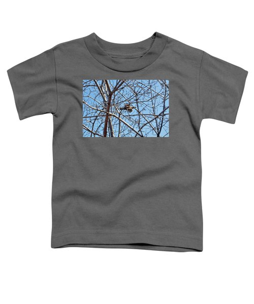 The Ruffed Grouse Flying Through Trees And Branches Toddler T-Shirt