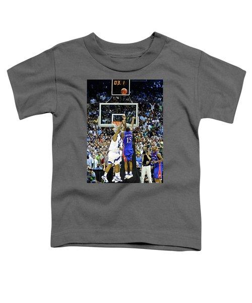 The Shot, 3.1 Seconds, Mario Chalmers Magic, Kansas Basketball 2008 Ncaa Championship Toddler T-Shirt