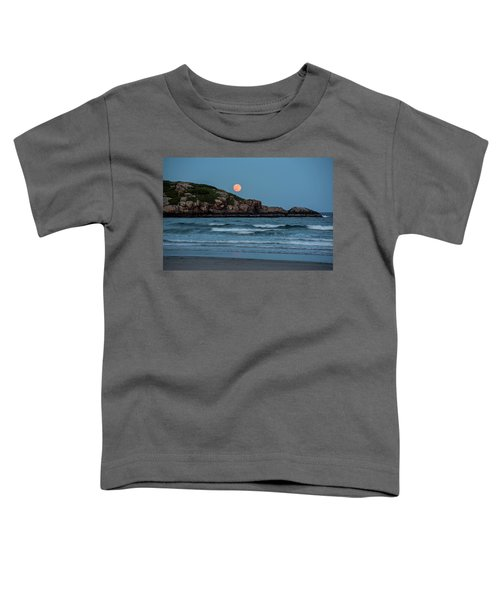 The Strawberry Moon Rising Over Good Harbor Beach Gloucester Ma Island Toddler T-Shirt