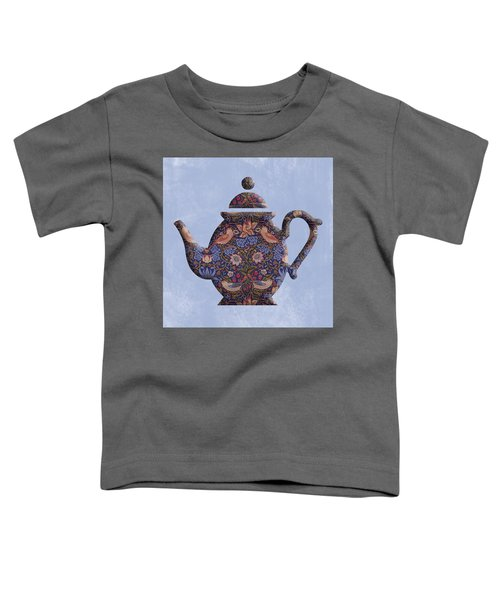 The Strawberry Thief Pattern Teapot Toddler T-Shirt