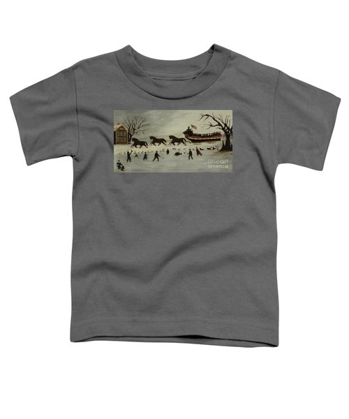 The Suffragettes Taking A Sleigh Ride Toddler T-Shirt