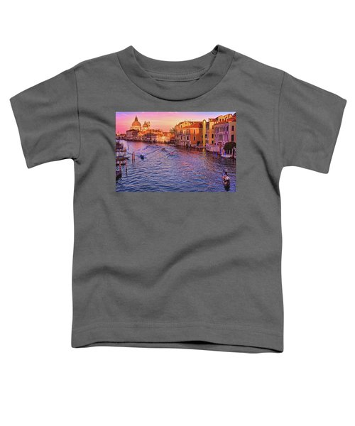The Sun Is Setting In Venice Toddler T-Shirt