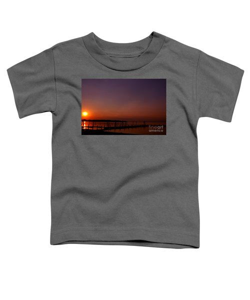 The Sun Sets Over The Water Toddler T-Shirt