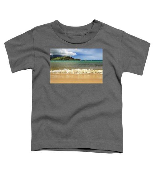 The Surf At Hanalei Bay Toddler T-Shirt