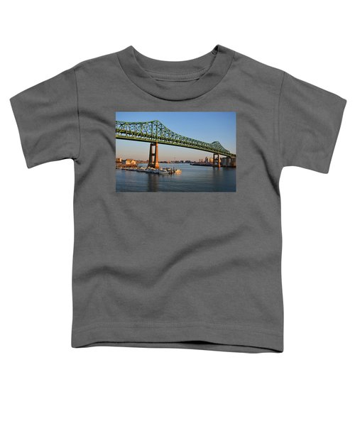 The Tobin Bridge Into The Sunset Chelsea Yacht Club Toddler T-Shirt