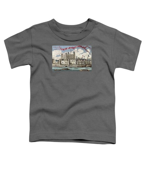 The Tower Of London Seen From The River Thames Toddler T-Shirt by English School