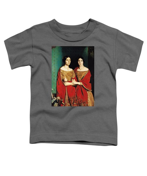 The Two Sisters Toddler T-Shirt by Theodore Chasseriau