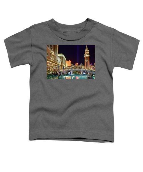 The Venetian Gondolas At Night Toddler T-Shirt