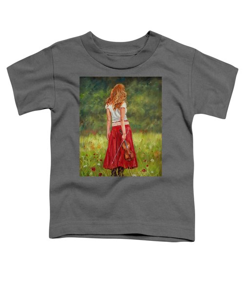 The Violinist Toddler T-Shirt