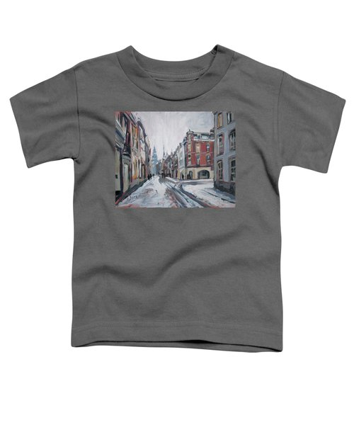 The White Grand Canal Street Maastricht Toddler T-Shirt by Nop Briex