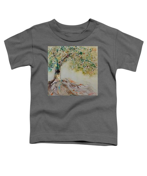 Toddler T-Shirt featuring the painting The Wisdom Tree by Joanne Smoley