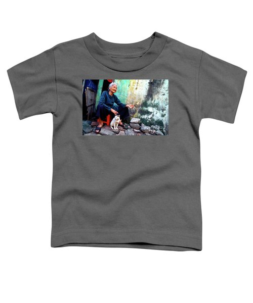 The Woman And The Cat Toddler T-Shirt