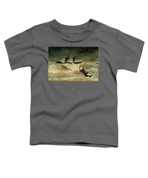 The Wreck Of The Iron Cloud, 1881 Toddler T-Shirt
