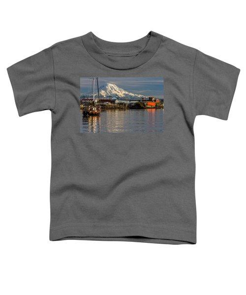 Thea Foss Waterway And Rainier 1 Toddler T-Shirt