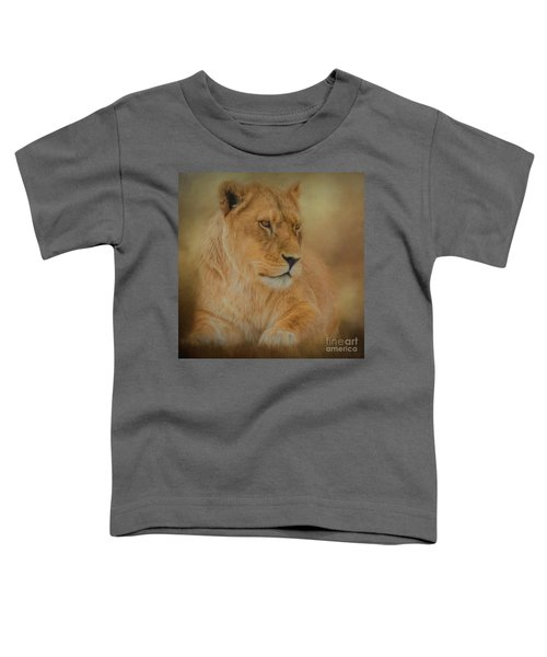 Thoughtful Lioness - Square Toddler T-Shirt