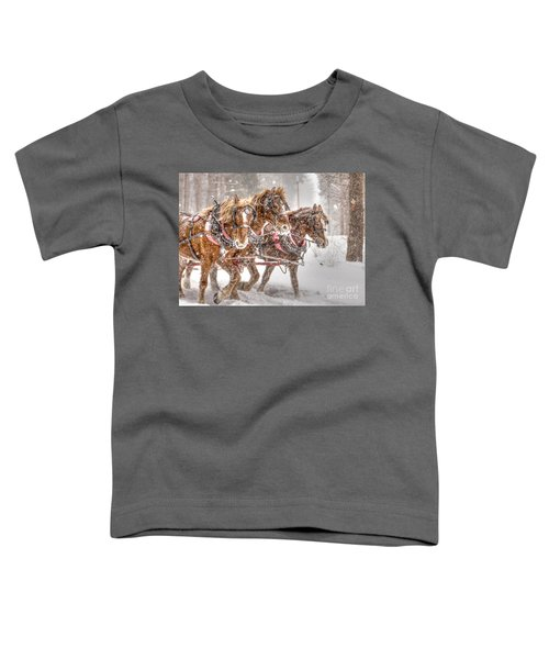 Three Horses - Color Toddler T-Shirt