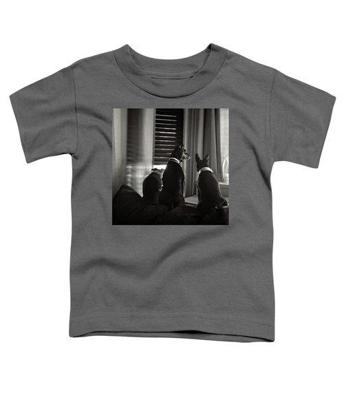 Three Min Pin Dogs Toddler T-Shirt