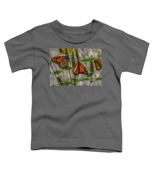 Three Monarch Butterfly Toddler T-Shirt