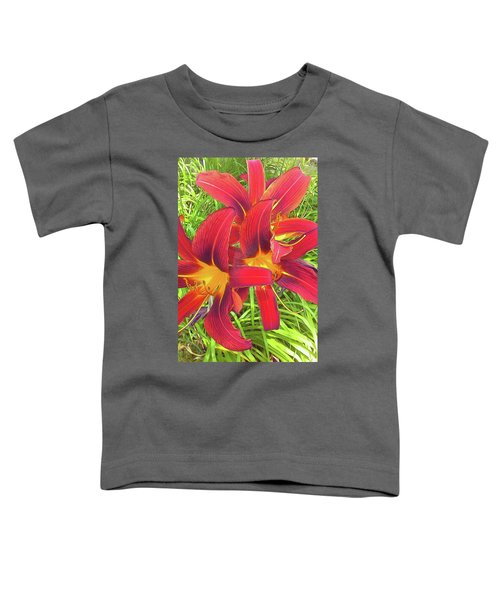 Three Red Tiger Lilies Toddler T-Shirt