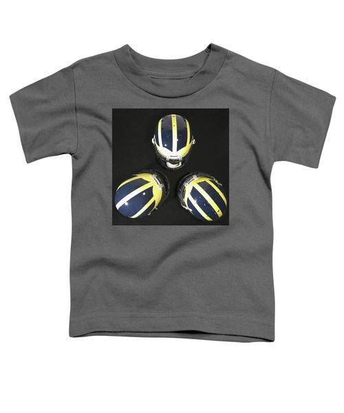 Three Striped Wolverine Helmets Toddler T-Shirt
