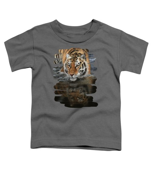 Tiger In Water Toddler T-Shirt