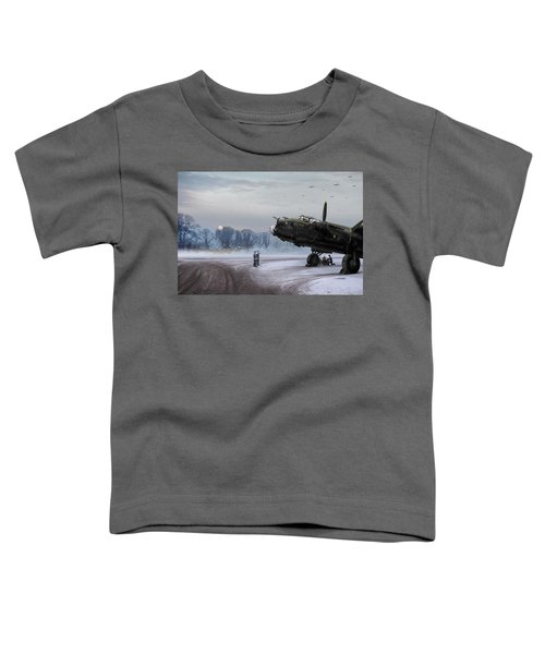 Time To Go - Lancasters On Dispersal Toddler T-Shirt by Gary Eason