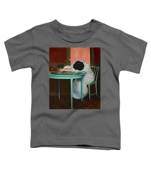 Toddler T-Shirt featuring the painting Tired by Ramon Casas