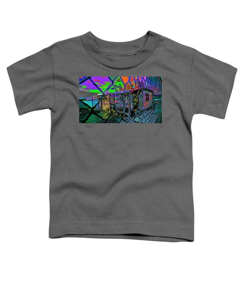 Tires And Broke Behind The Fence Toddler T-Shirt