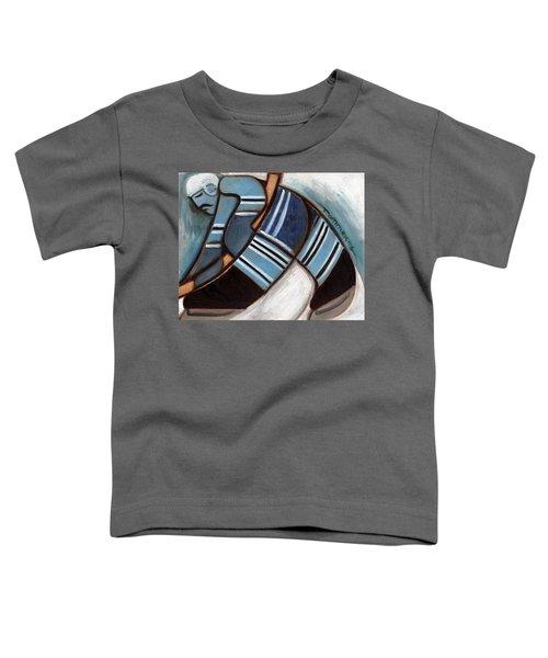 Toronto Hockey Player Art Print Toddler T-Shirt