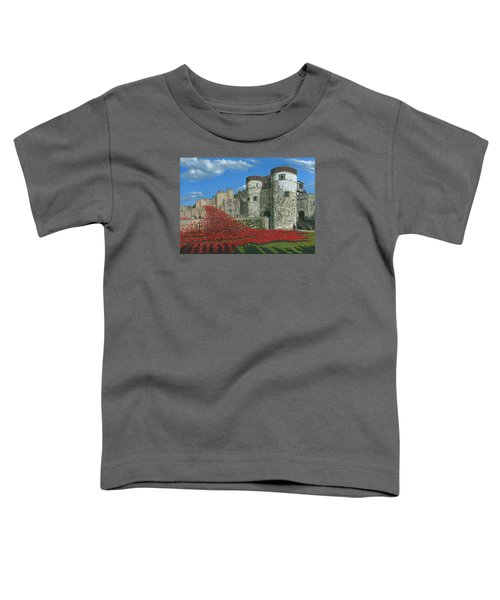 Tower Of London Poppies - Blood Swept Lands And Seas Of Red  Toddler T-Shirt by Richard Harpum