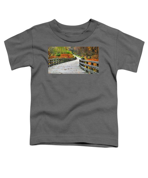Towpath In Summit County Ohio Toddler T-Shirt