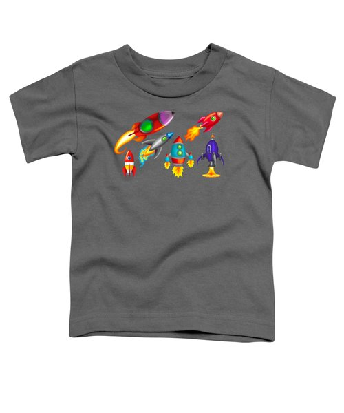 Toy Rockets Toddler T-Shirt by Brian Kemper