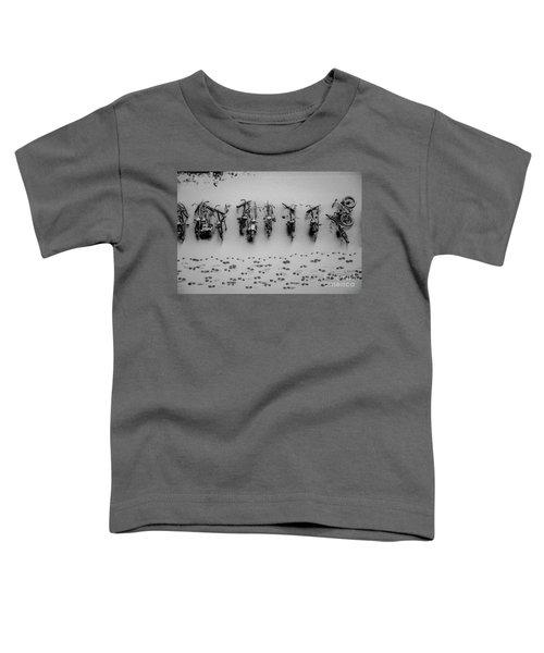 Tracks N Bicycles Toddler T-Shirt