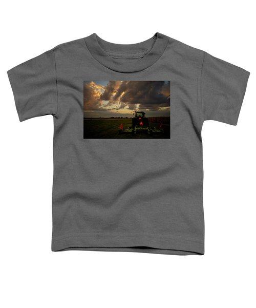 Tractor At Sunrise - Chester Nebraska Toddler T-Shirt
