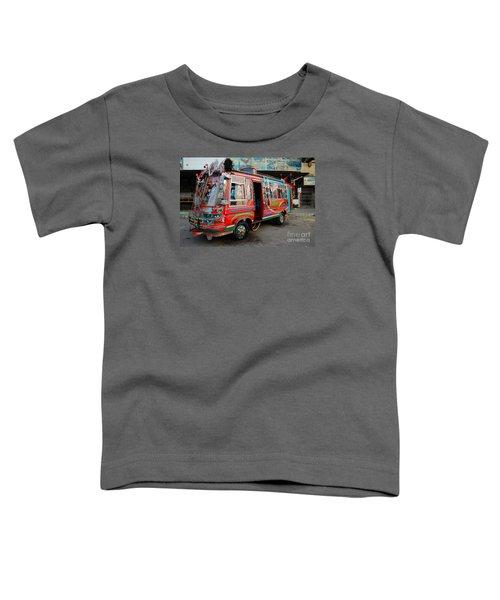 Traditionally Decorated Pakistani Bus Art Karachi Pakistan Toddler T-Shirt