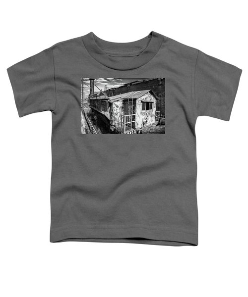 Train 6 In Black And White Toddler T-Shirt