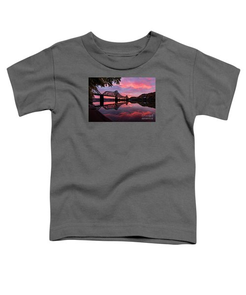 Train Bridge At Sunrise  Toddler T-Shirt
